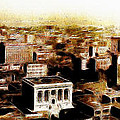 San Francisco Skyline Panorama 1909 From The Ferry Building Through South Of Market by Wingsdomain Art and Photography