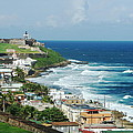 San Juan Pr From The Old Town Fort by Daryl Hanauer