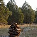 Sandstone Cairn Nature Art Sculpture by Adam Long