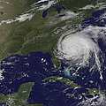 Satellite View Of Hurricane Irene by Stocktrek Images