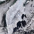 Satellite View Of Kamchatka Peninsula by Stocktrek Images