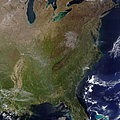 Satellite View Of The United States by Stocktrek Images
