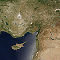 Satellite View Of Turkey And The Island by Stocktrek Images