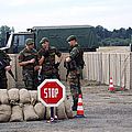 Scenery Of A Checkpoint Used by Luc De Jaeger