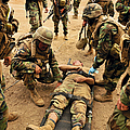 Seabees Conduct A Mass Casualty Drill by Stocktrek Images