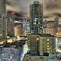 Seattle At Night by John Rowe