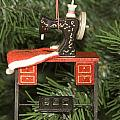 Sewing Machine Ornament by Sally Weigand