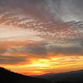 Silhouette Sunset by Debra     Vatalaro