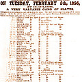 Slave Auction Notice by Photo Researchers, Inc.