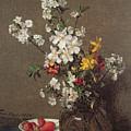 Spring Bouquet by Ignace Henri Jean Fantin-Latour
