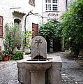 St. Paul De Vence Fountain by Carla Parris