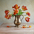 Still Life With Tulips by Nailia Schwarz