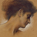 Study Of A Head by Evelyn De Morgan