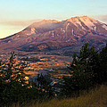 Sun Going Down At Mt. St. Helens by Athena Mckinzie
