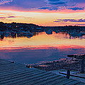 Sunset Bass Harbor Maine by Dale J Martin