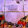 Teapot And Berries by Sandra Maddox