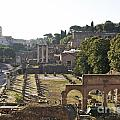 Temple Of Vesta Arch Of Titus. Temple Of Castor And Pollux. Forum Romanum by Bernard Jaubert
