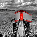 Tenby Lifeboat House Colour Pop by Steve Purnell