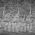 Thai Style Handcraft Of Elephant by Phalakon Jaisangat