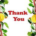 Thank You Card   by Irina Sztukowski