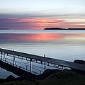 The Dock At Traders Bay Lodge On Leech by Joel Sartore