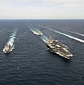 The Enterprise Carrier Strike Group by Stocktrek Images
