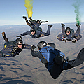 The U.s. Navy Parachute Demonstration by Stocktrek Images