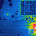 Thermogram Of A Computer Board by Ted Kinsman