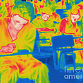Thermogram Of Students In A Lecture by Ted Kinsman