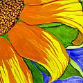 This Is No Subdued Sunflower by Debi Singer