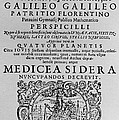 Title Page Of Galileos Book by Science Source