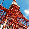 Tokyo Tower Face Cloudy Sky by Ulrich Schade