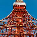 Tokyo Tower Faces Blue Sky by U Schade