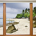 Tropical White Sand Beach Paradise Window Scenic View by James BO  Insogna