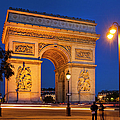 Twilight At Arc De Triomphe by Brian Jannsen
