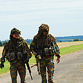 Two Snipers Of The Belgian Army Dressed by Luc De Jaeger