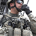 U.s. Army Soldier Communicates by Stocktrek Images
