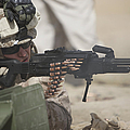 U.s. Marine Firing A Pk 7.62mm Machine by Terry Moore