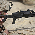 U.s. Marine Prepares To Fire A Pk by Terry Moore