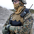 U.s. Marine Provides Security by Stocktrek Images