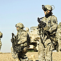 U.s. Soldiers Conduct A Combat Patrol by Stocktrek Images