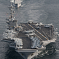Uss Carl Vinson And Uss Bunker Hill by Stocktrek Images