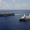 Uss Pearl Harbor, Uss Makin Island by Stocktrek Images