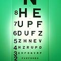 View Of A Snellen Eye Test Chart by Tek Image