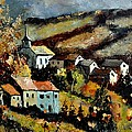 Village In Fall by Pol Ledent