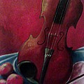 Violin With Apples by Melissa Cruz