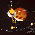 Voyager Saturn Flyby Artwork by Science Source