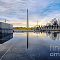 Washington Monument From The World War II Memorial by Jim Moore