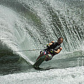 Water Skiing Magic Of Water 27 by Bob Christopher