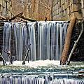 Waterfalls At Old Erie Canal Locks by Jack Schultz